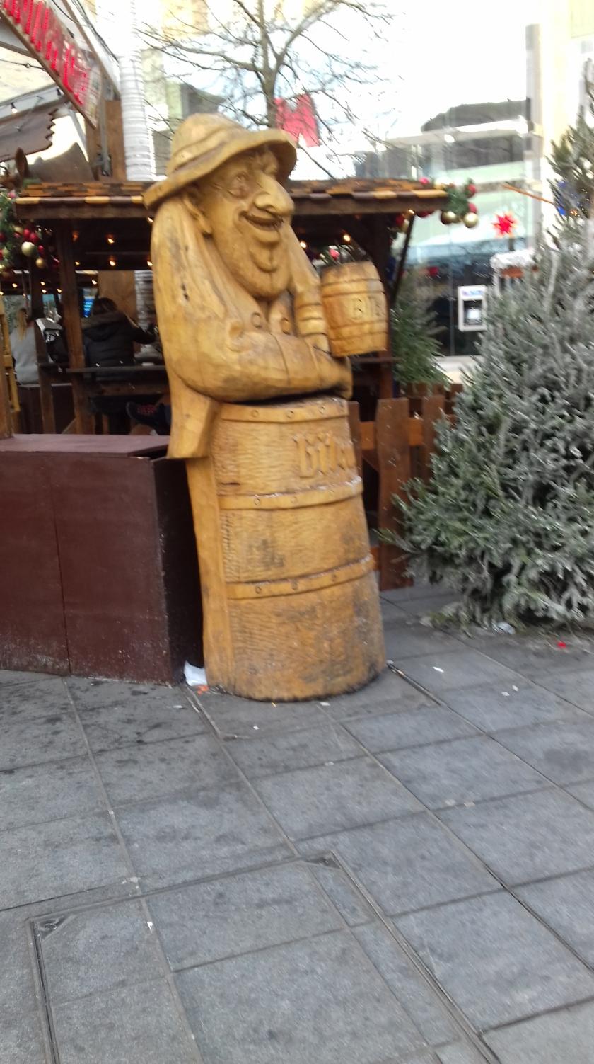 Life size Wooden figure in the German market Broadmead Bristol #Bristmas