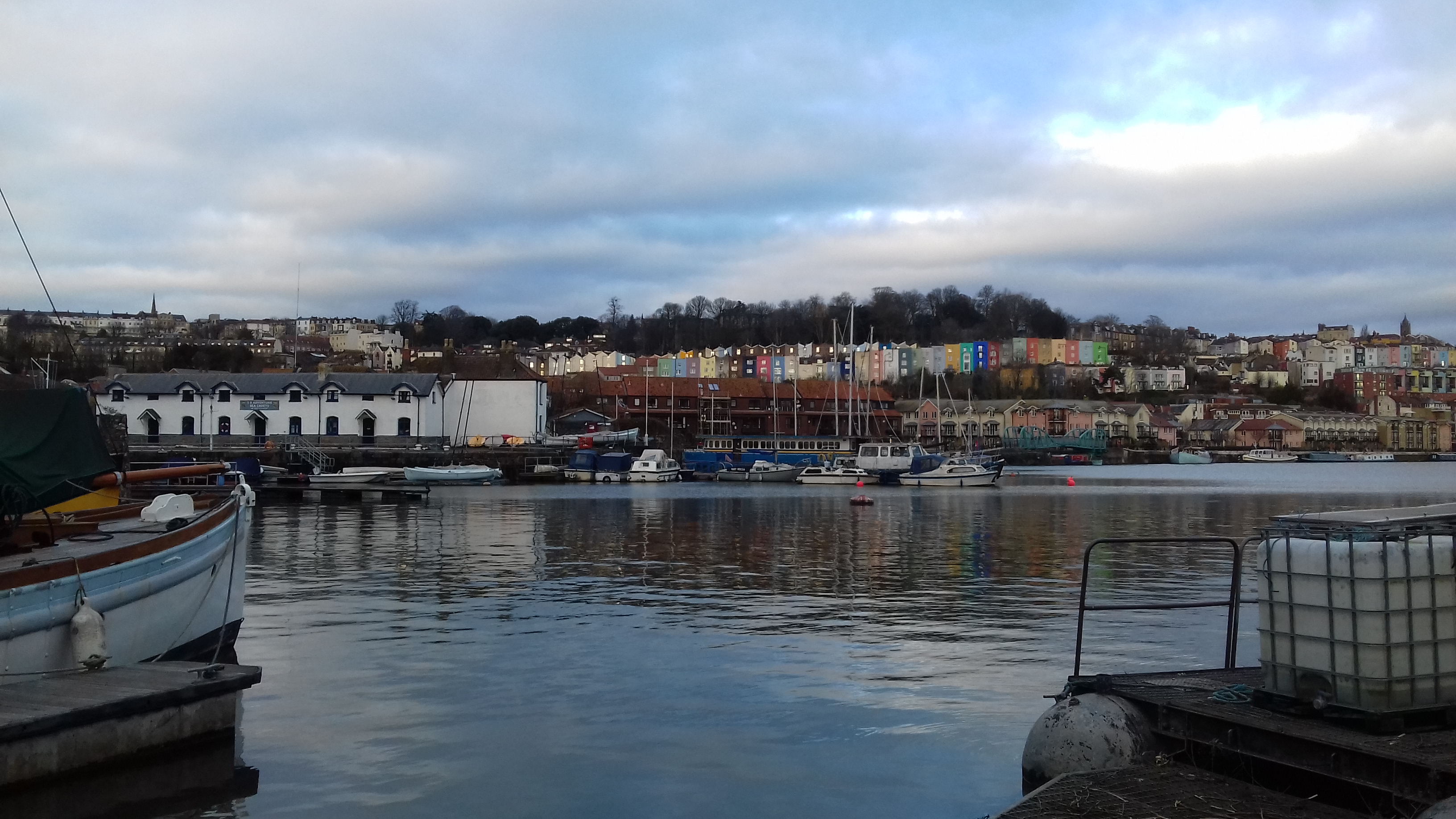 The floating harbour at twilight