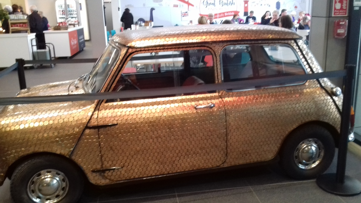 This mini is covered in pennies