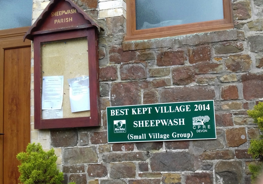 best kept village plaque